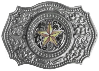 G-4653 Western Star Belt Buckle 4 x 2-3/4