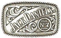 Officially Licensed - JD Old No 7 Rectangular Belt Buckle