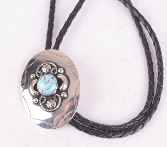 German Silver Bolo with Turquise Stone