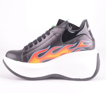 I-Flame Black Vegan Platform