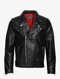 Brice Belted Leather Jacket Black