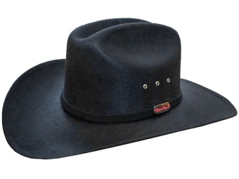 KIDS Faux Felt Hat - Black - Calgary