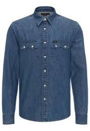RIDER SHIRT IN DIPPED BLUE