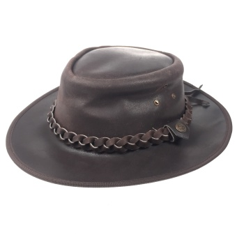 LEATHER COWBOY HAT BROWN