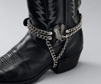 Leather Boot Chains - Eagle on Side -