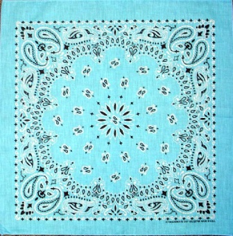 Light Blue Paisley Bandannas