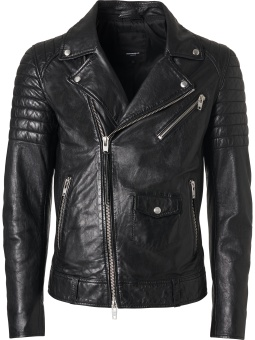 Linux Black Biker Jacket