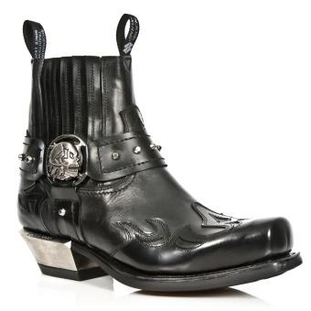 7966-S1 Negro Biker Boot