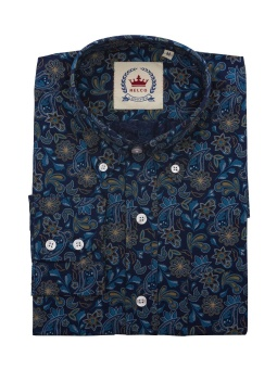 Paisley Blue Shirt