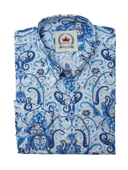 Paisley Shirt White Blue