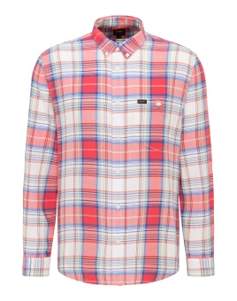 RIVETED SHIRT AURORA RED