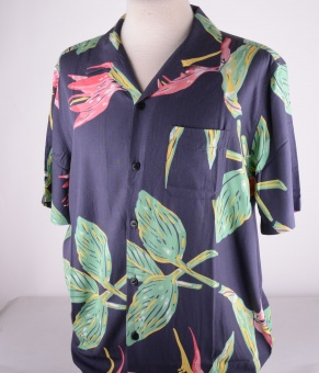 Resort Shirt Black Birds