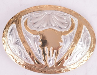 Shiny Gold Head Belt Buckle