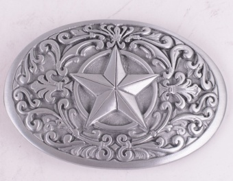 Star Pattern Belt Buckle