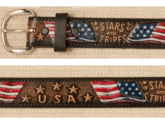Stars & Stripes Leather Belt