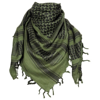 "Scarf, ""Shemagh"", OD green-black"