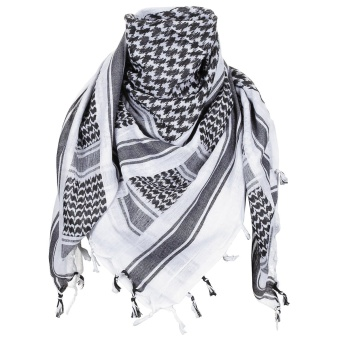"Scarf, ""Shemagh"", black-white"