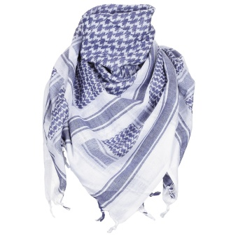 "Scarf, ""Shemagh"", blue-white"