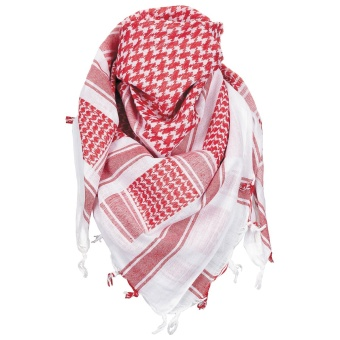 "Scarf, ""Shemagh"", red-white"