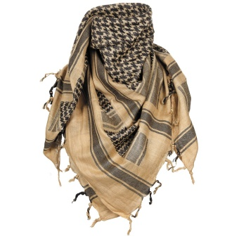 "Scarf, ""Shemagh"", sand-black"