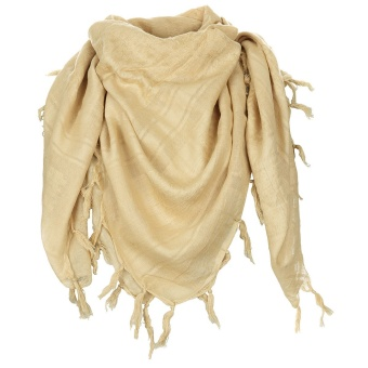 "Scarf, ""Shemagh"", supersoft, coyote tan"