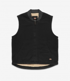 Sherpa Lined Vest Black