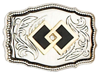 Square Dance Belt Buckle
