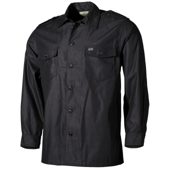 US Shirt LS Black