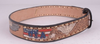USA Eagle Belt Tan (removable buckle)