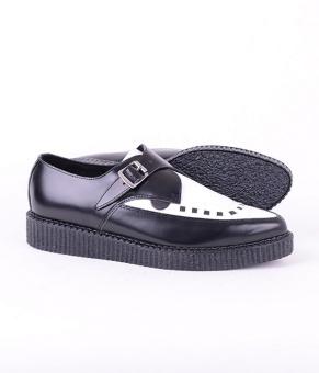 Apollo Black White Leather
