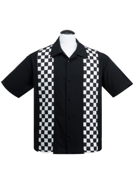 V8 Checkered Black White Shirt