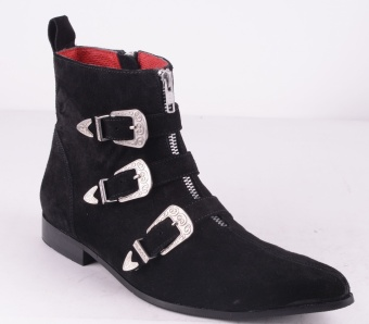 Vampz Black Suede ZIP