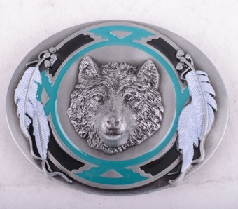 Wolf & Feather Buckle