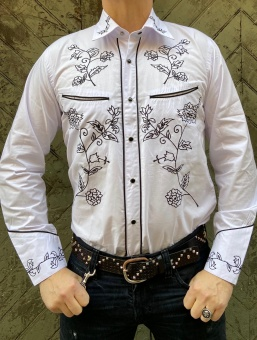 White & Black Western Shirt
