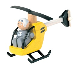 Helicopter with pilot - Plantoys