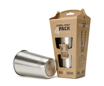 Steel Pint 473 ml - 4 pack - Klean Kanteen
