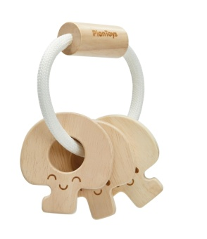 Baby Key Rattle - Natural - Plantoys