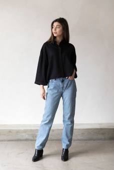 Beek Oversized Shirt - Black - I Dig Denim