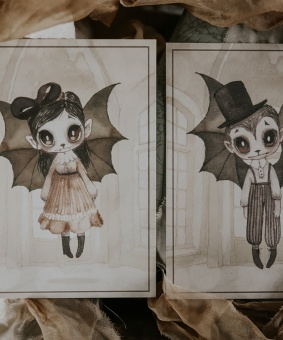 Boo Twins 2-pack cards - Mrs Mighetto