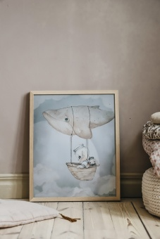 Flying whale - 40x50 cm - Mrs Mighetto