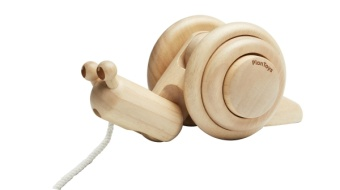 Pull along snail - Natural - Plantoys
