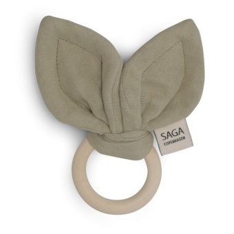 Teething Ring Groa - Green tee - Saga Copenhagen