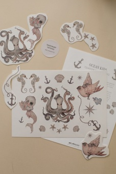 Temporary tattoos - Ocean Kids - Mrs Mighetto