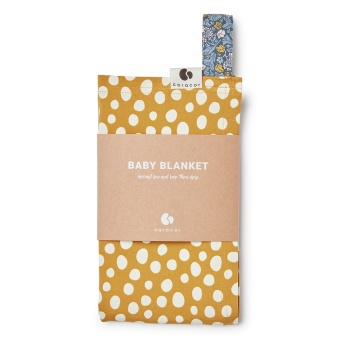 Babyfilt - Abstract Dot Mustard - Coracor