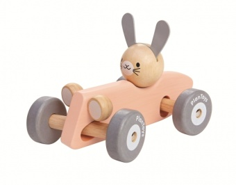 Bunny Racing Car - Pastell - Plantoys