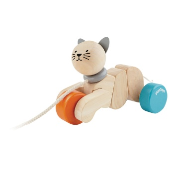 Pull along Cat - Plantoys