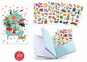 Sarah stickers notebook - Djeco