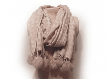Scarf Chica beige