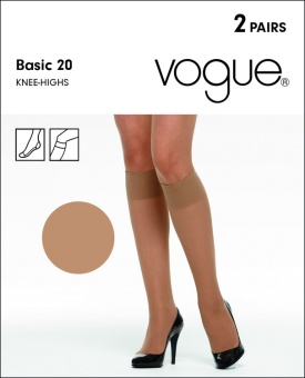 Vogue Basic Knee 2-pack