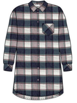 Damella Flannel check Nattskjorta
